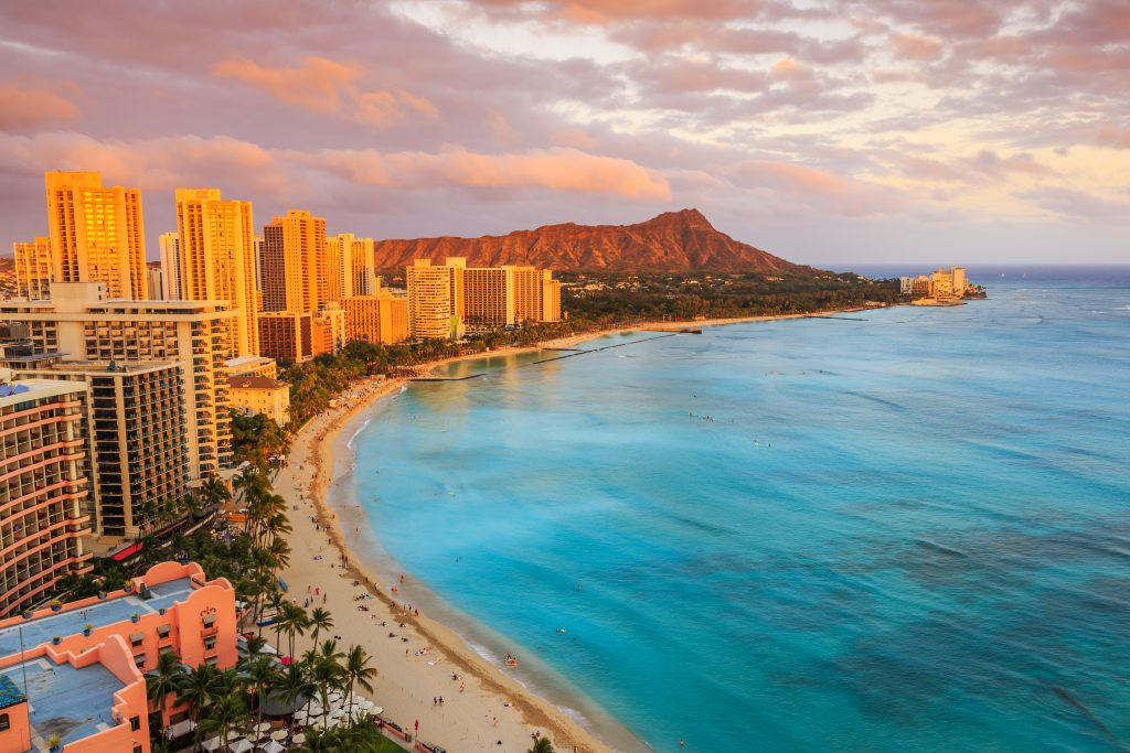 best things to do in Oahu; view of Diamond Head from Sheraton Waikiki