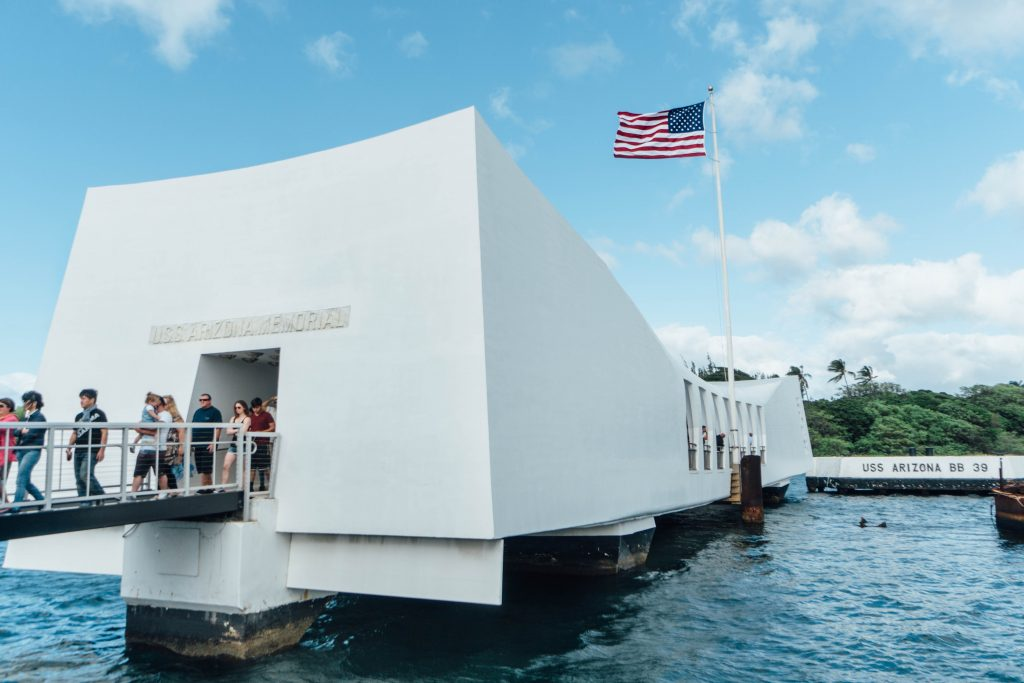 best things to do in Oahu; exterior USS Arizona Pearl Harbor
